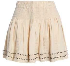 Etoile Isabel Marant Embellished Embroidered Cotton-Blend Gauze Mini Skirt