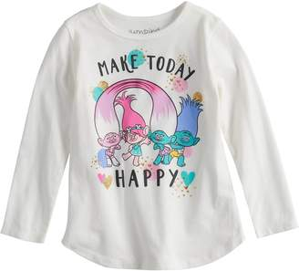 "Osh Kosh Toddler Girl Jumping Beans Dreamworks Trolls ""Make Today Happy"" Graphic Tee"