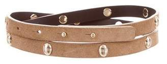 Tory Burch Embellished Suede Belt