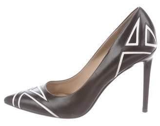 Stella Luna Leather Pointed-Toe Pumps