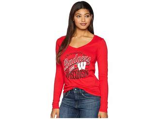 Champion College Wisconsin Badgers Long Sleeve V-Neck Tee