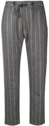 Eleventy striped straight-leg trousers