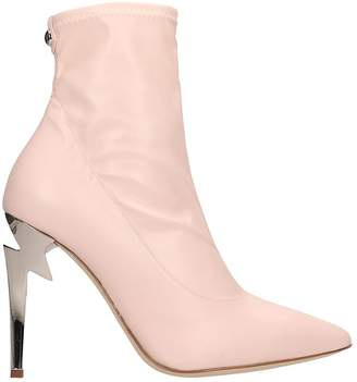 5dbdc82c8d9f Giuseppe Zanotti G-heel Pink Leather Ankle Boots