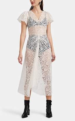 Ophelia HIRAETH Women's Lace Midi-Dress - Beige, Tan