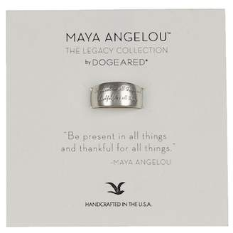 Dogeared Sterling Silver Maya Angelou Be Present in All Things Band Ring - Size 5