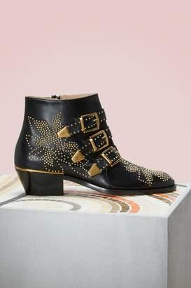 Chloé Susanna nappa sheepskin short boots