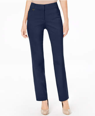 JM Collection Curvy-Fit Slim-Leg Pants