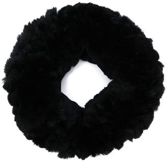 Yves Salomon rabbit fur knitted collar