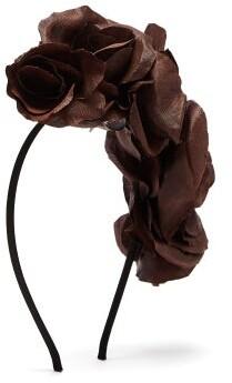 Philippa Craddock - Silk Faux Flower Headband - Womens - Brown