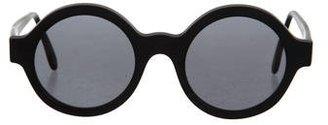 Illesteva tinted Round Sunglasses $95 thestylecure.com