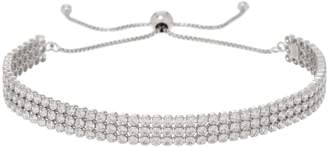 Diamonique 3.15 cttw Adjustable Bracelet, Sterling