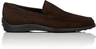 Tod's MEN'S PANTOFOLA SUEDE VENETIAN LOAFERS - DK. BROWN SIZE 8 M