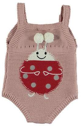 Stella McCartney Knit Ladybug Sleeveless Bodysuit, Size 3-12 Months