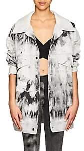Faith Connexion Women's Bleached Denim Oversized Jacket - Black