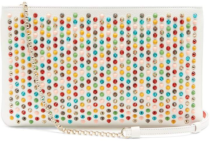 Christian Louboutin  CHRISTIAN LOUBOUTIN Loubiposh spike-embellished leather clutch
