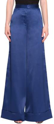 Self-Portrait Satin High-waist Pants