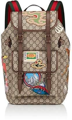 Gucci Men's GG Supreme Appliquéd Backpack