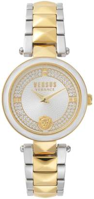 Versace Covent Garden Analogue Two-Tone Stainless Steel Crystal Bracelet Watch
