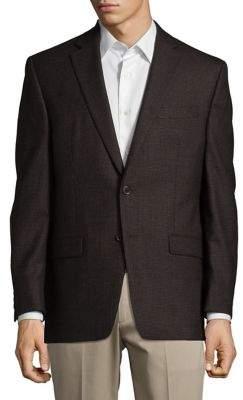 Lauren Ralph Lauren Mini Check Wool Suit Jacket