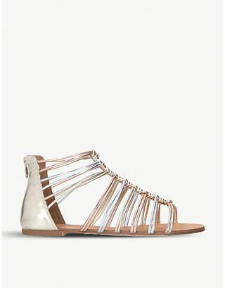 Miss KG Robyn metallic gladiator faux-leather sandals