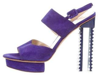 Aperlaï Platform Suede Sandals