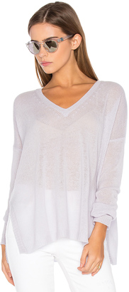 Autumn Cashmere Side Slit V Neck Sweater $286 thestylecure.com