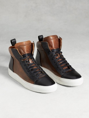 315 Reed Raw Edge High Top Sneaker $548 thestylecure.com