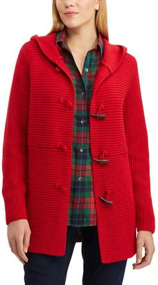 Chaps Women's Rib-Knit Toggle Cardigan