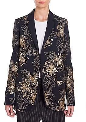 Stella McCartney Women's Embroidered Wool Boyfriend Blazer
