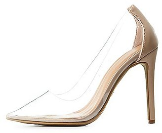 Clear Pointed Toe Pumps $32.99 thestylecure.com