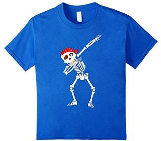 Funny Dabbing Skeleton T-Shirt Pirate Halloween Costume