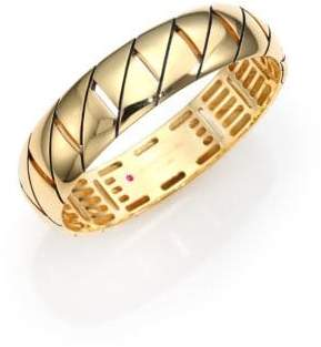 Roberto Coin Appassionata 18K Yellow Gold Bangle Bracelet