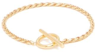 All Blues - Rope Chain Gold Plated Bracelet - Mens - Gold