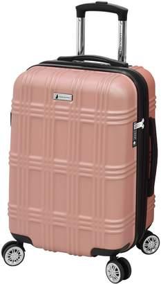 London Fog Leyton 20-Inch Expandable Spinner Suitcase
