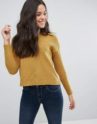 Brave Soul Erin Loose Fit Sweater In Chenille