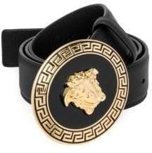 Versace Medusa Greca Leather Belt