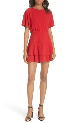 Alice + Olivia Palmira Tiered Fit & Flare Minidress