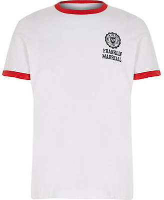 River Island Boys Franklin and Marshall white retro T-shirt