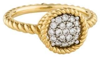 Roberto Coin 18K Diamond Pavé Circle Barocco Ring