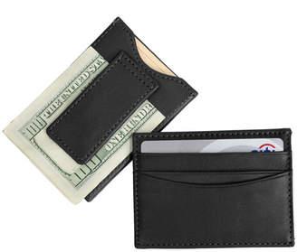 Co Emporium Leather Royce New York Slim Magnetic Money Clip Wallet