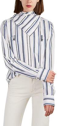 Land of Distraction Women's Paul Striped Cotton Poplin Blouse