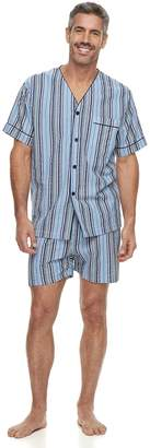 Big & Tall Residence Summer Shells Striped Seersucker Pajama Set