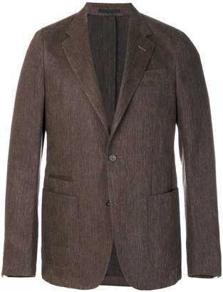 Z Zegna casual fitted jacket