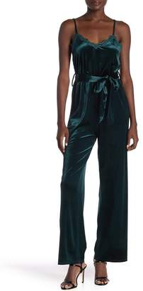Honeybelle Honey Belle Spaghetti Strap Jumpsuit With Waist Tie