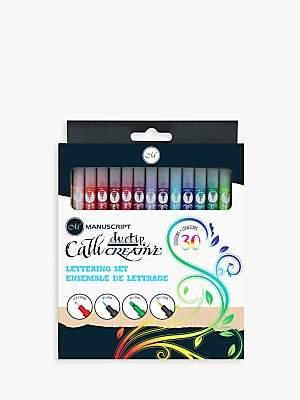 Manuscript Callicreative Duo Tip Pen Set, Set of 30