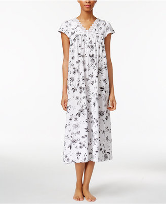 Charter Club Lace-Trimmed Cotton Knit Nightgown, Created for Macy's $58 thestylecure.com