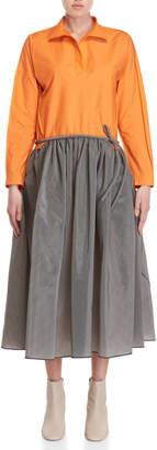 Ter Et Bantine Orange & Grey Belted Dress