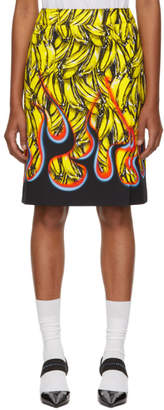Prada Multicolor Banana Flames Foldover Skirt