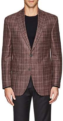 Jack Victor MEN'S CHECKED TWO-BUTTON SPORTCOAT - ROSE SIZE 40 R