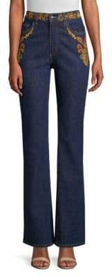 Etro Embroidery Flare Jeans